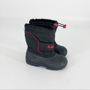 KAMIK Winter Snow Boots Toddler Size 9 Black Red